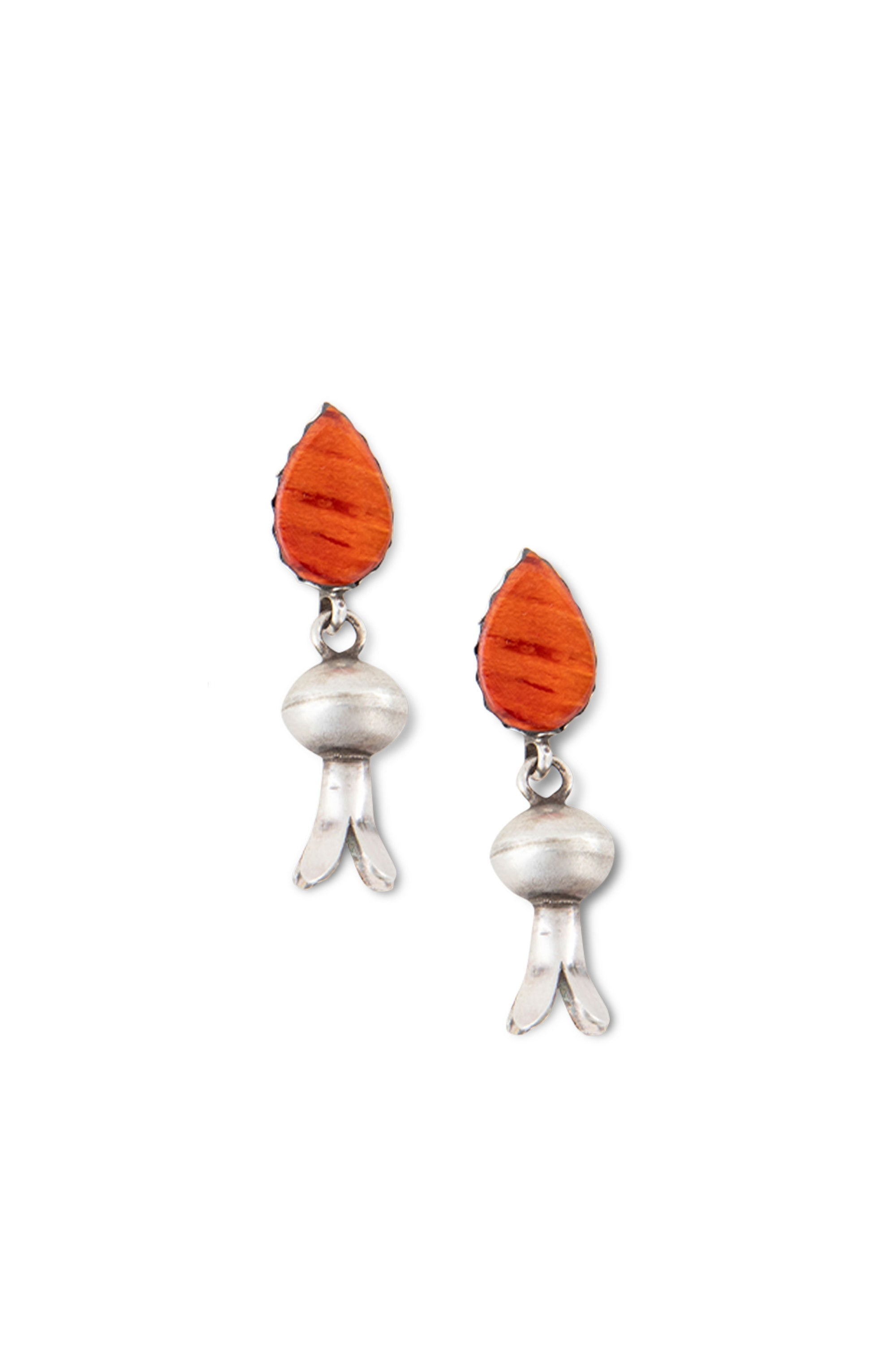 Earrings, Blossom, Spiny Coral, Hallmark, 421