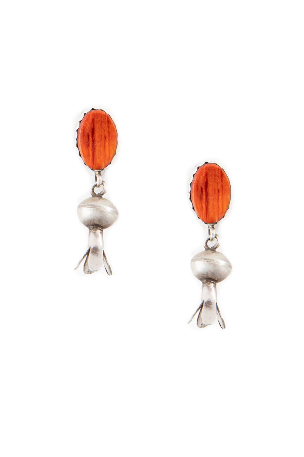 Earrings, Blossom, Spiny Coral, Hallmark, 423