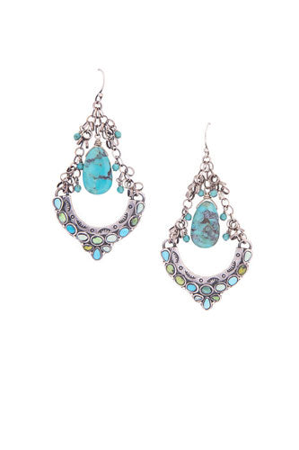 Earring, Chandelier, Turquoise, Dance Hall