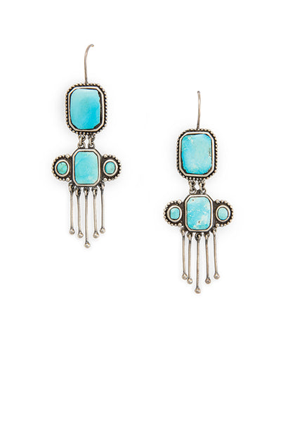 Earrings, Dangle, Turquoise, Dancer, 475