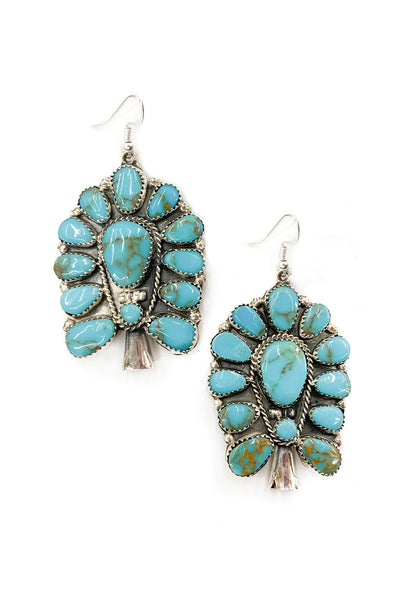 Earrings, Cluster, Turquoise,  497