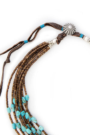 Necklace, Natural Stone, Heishi, Turquoise, Indian Loyalty