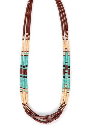 Necklace, Natural Stone, Heishi, Tribal Nomad