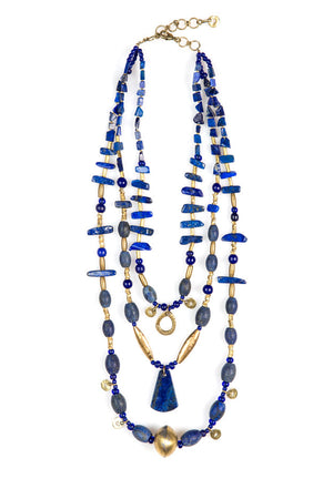 Necklace, Natural Stone, Lapis, Khyber Pass