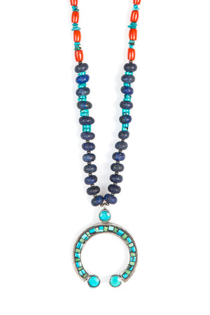 Necklace, Bead, Mavi