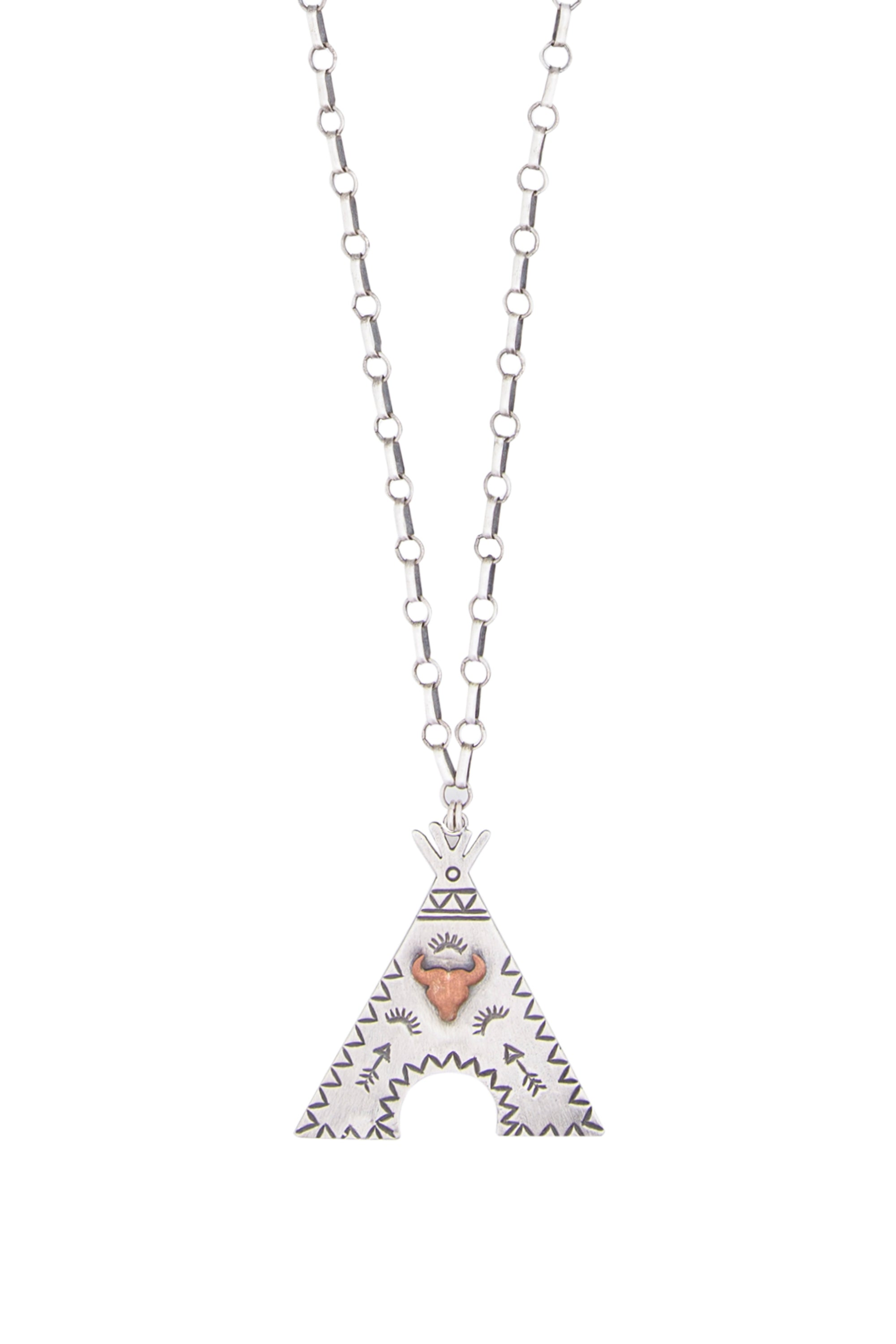 Necklace, Chain, TeePee Love