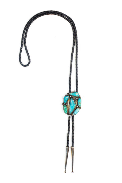 Bolo, Turquoise, Abstract, Vintage, 924