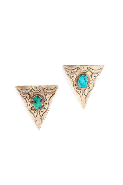Collar Tips, Turquoise, Vintage, 312