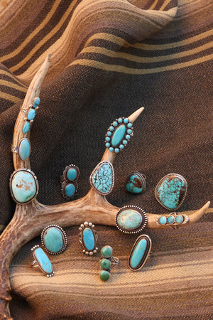 Ring, Turquoise, Old Presido 10