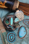 Ring, Turquoise, Triple Stone, Lulang Forest, 254