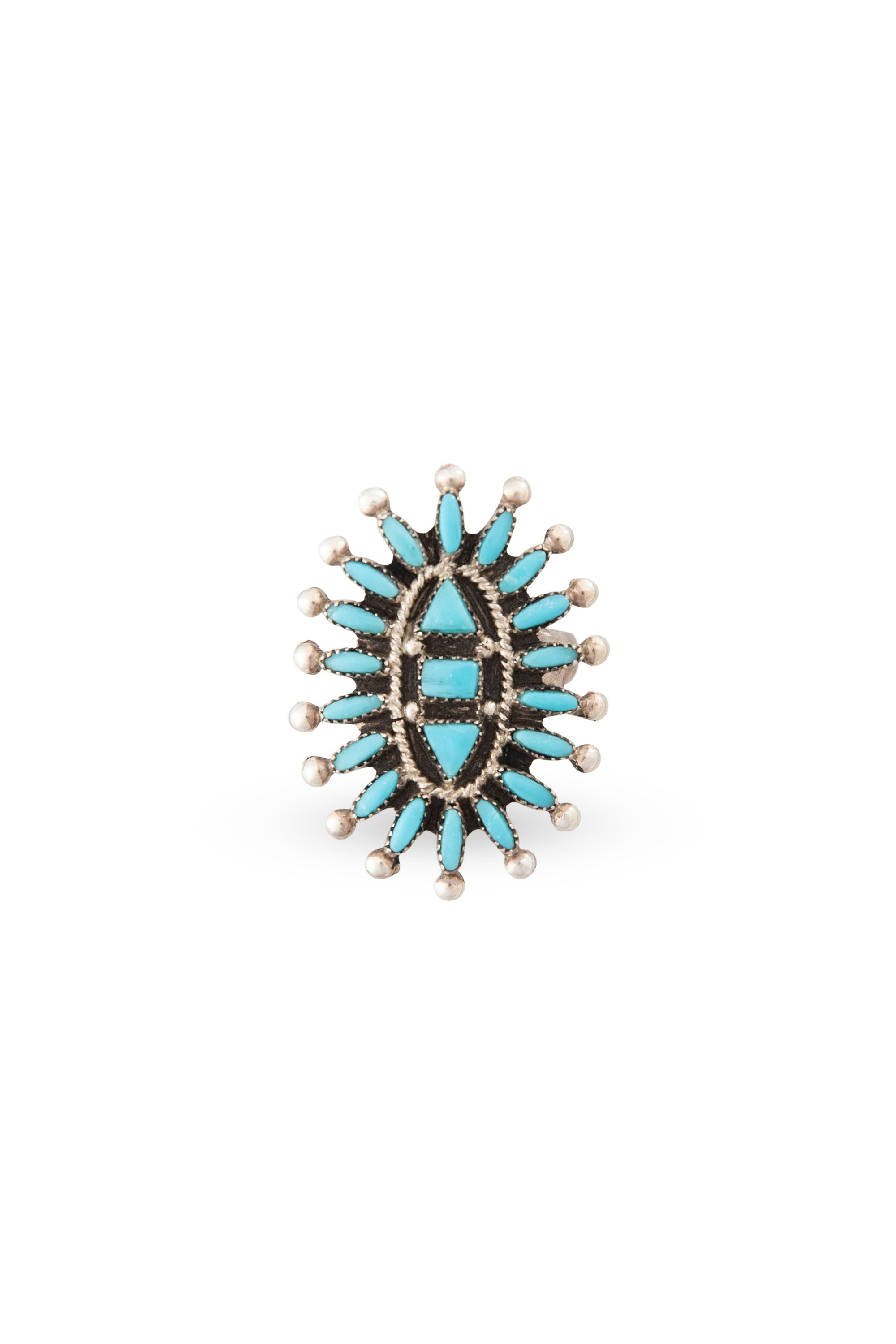 Ring, Cluster, Turquoise, Needlepoint, Evone Hustito, 430