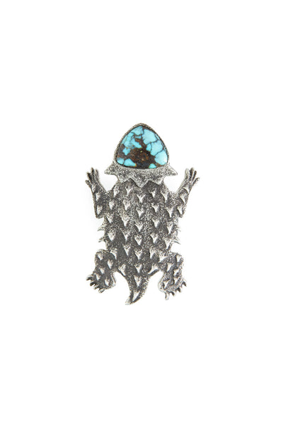 Ring, Conversational, Horned Frog, Turquoise, Hallmark