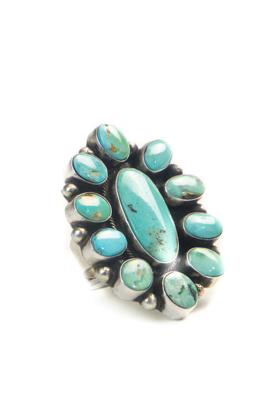 Ring, Cluster, Turquoise, 540