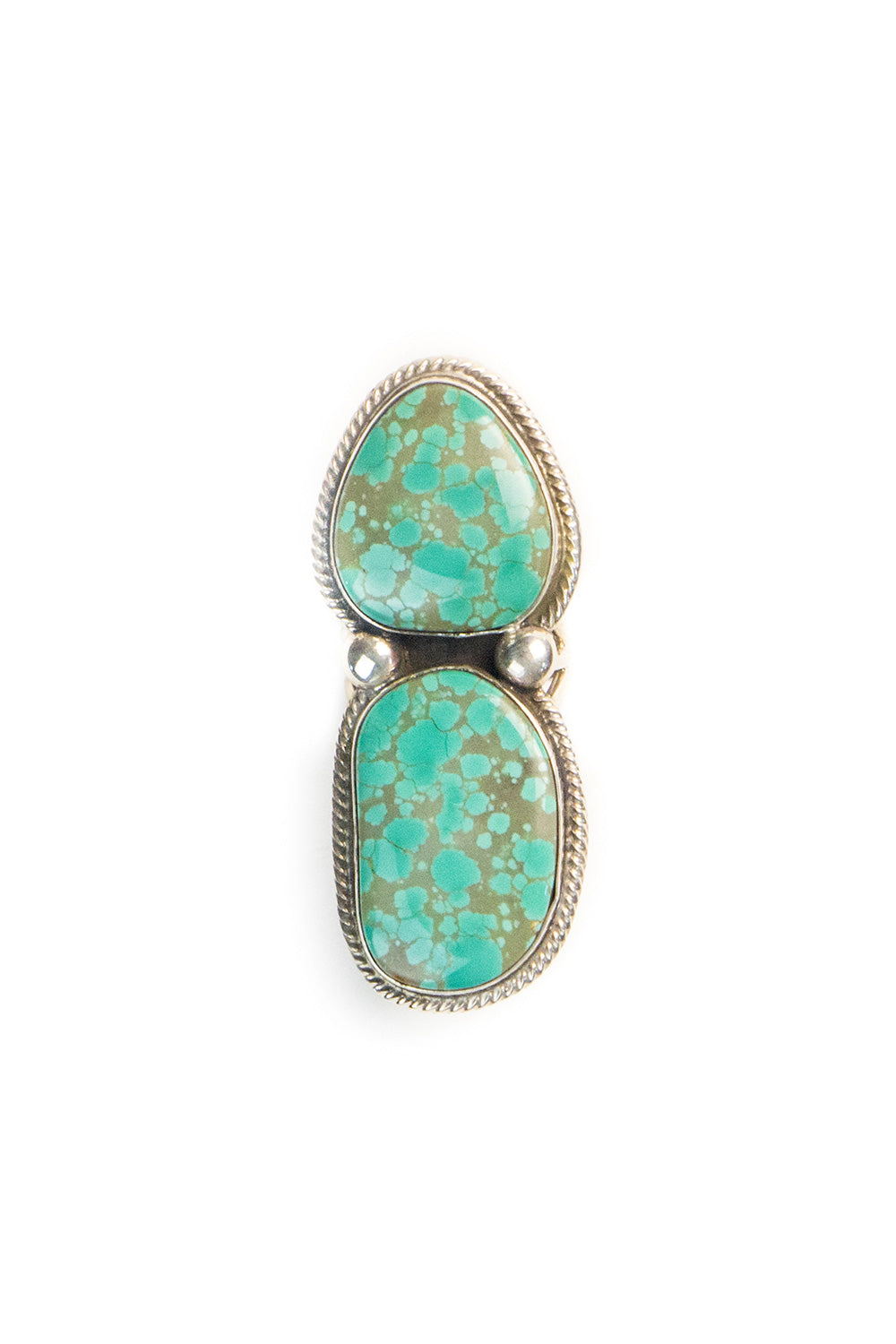Ring, Turquoise, Double Stone, 542