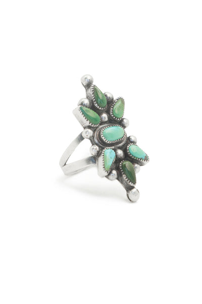 Ring, Turquoise, Vintage, 50's, 557