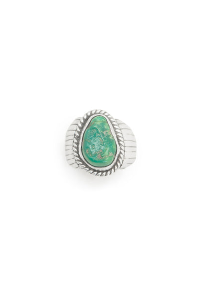 Ring, Turquoise, Single Stone, Hallmark, Vintage, 558