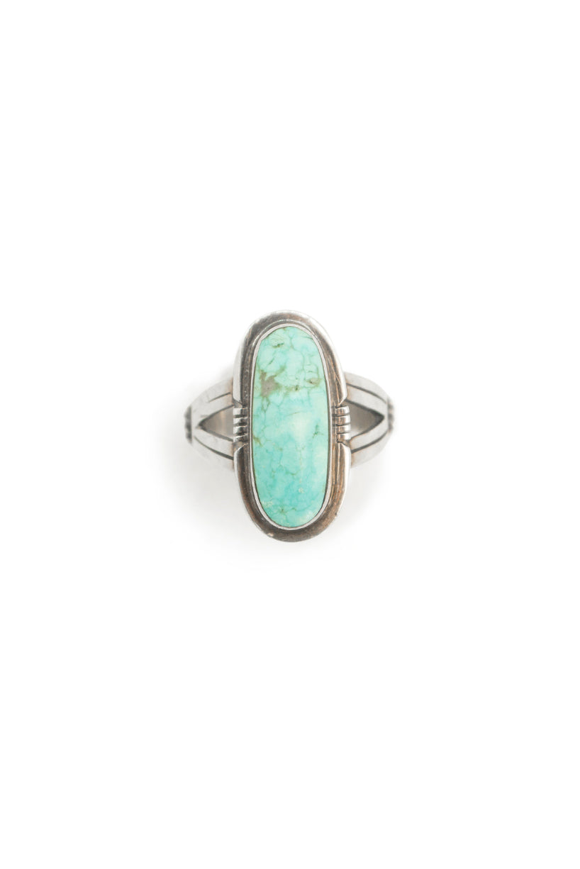 Ring, Turquoise, Single Stone, Hallmark, Vintage, 581