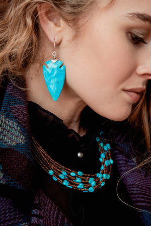 Earrings, Slab, Reina Azul