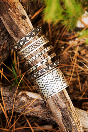 Bangle, Sterling silver, Elvira Bill, Tubac