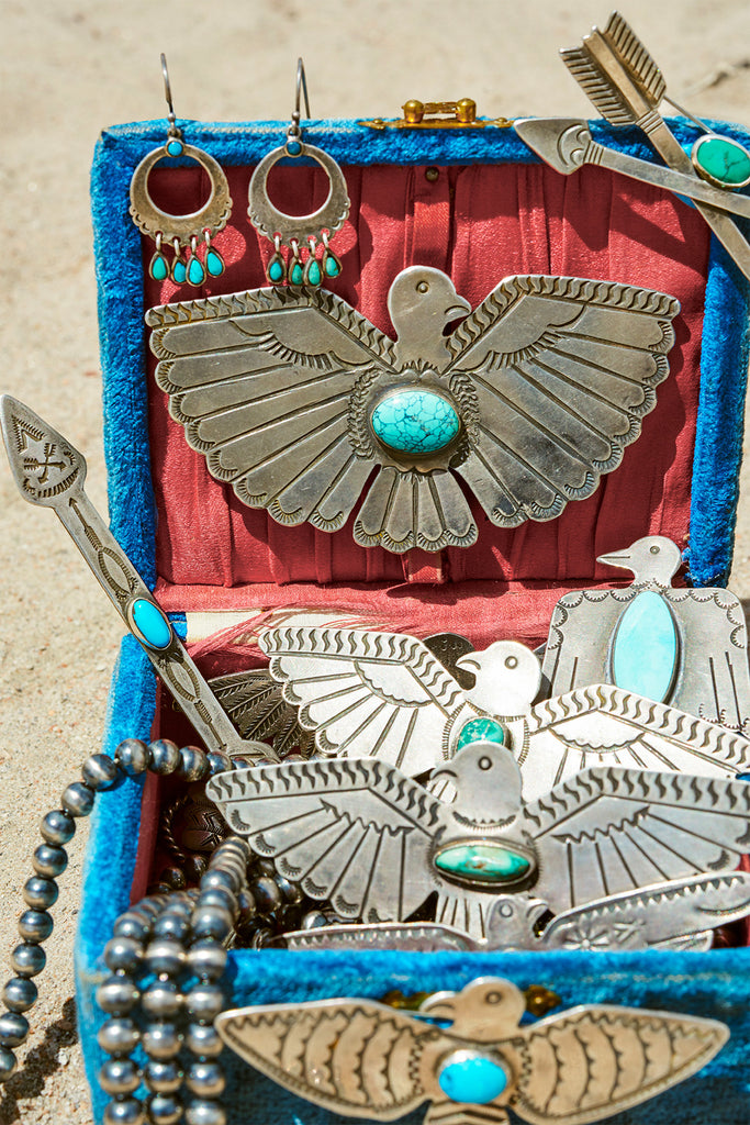 Thunderbird Pin with Turquoise Stone