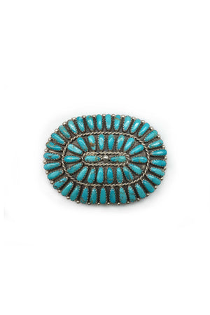 Pin, Turquoise, Cluster, Zuni, 154