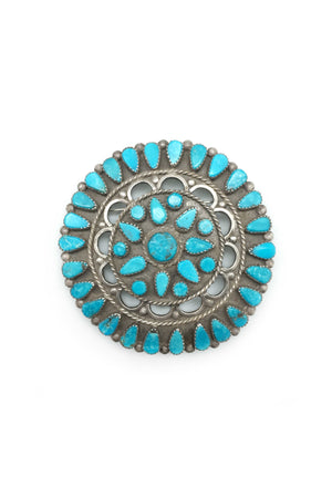 Pin, Turquoise, Cluster, Wagon Wheel, 157
