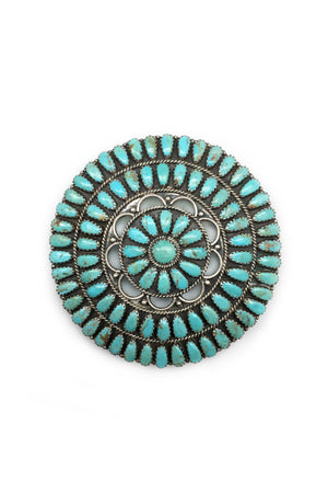 Pin, Turquoise, Cluster, Zuni, 156