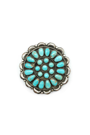 Pin, Turquoise, Cluster, Wagon Wheel, Vintage, 186