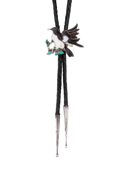 Bolo,, Zuni, Channel Inlay, Vintage, 624