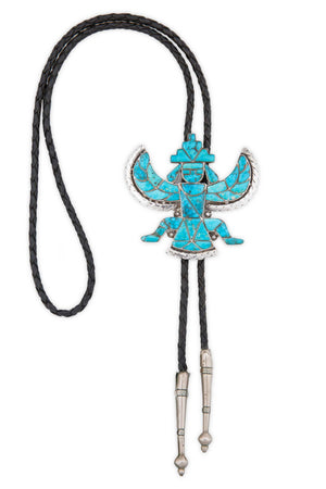Bolo, Turquoise, Vintage,Estate, Knifewing, 613