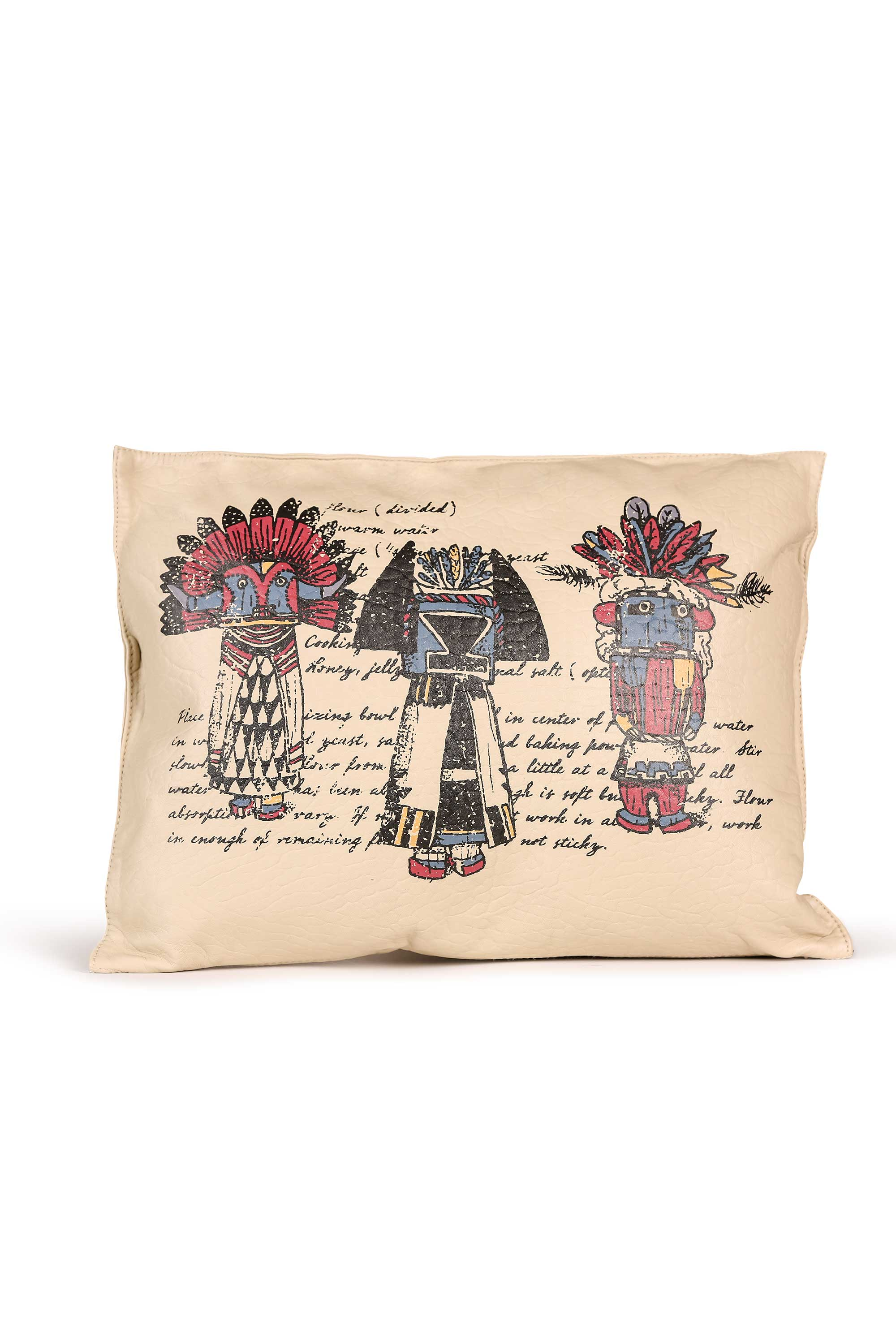 Pillow, Leather, Hopi Kachina