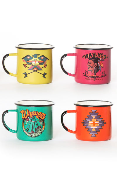 Mug, Collector, Twisted Western, Set of 4