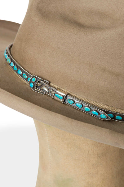 Hat Band, Navajo, Turquoise, Old Pawn, 123
