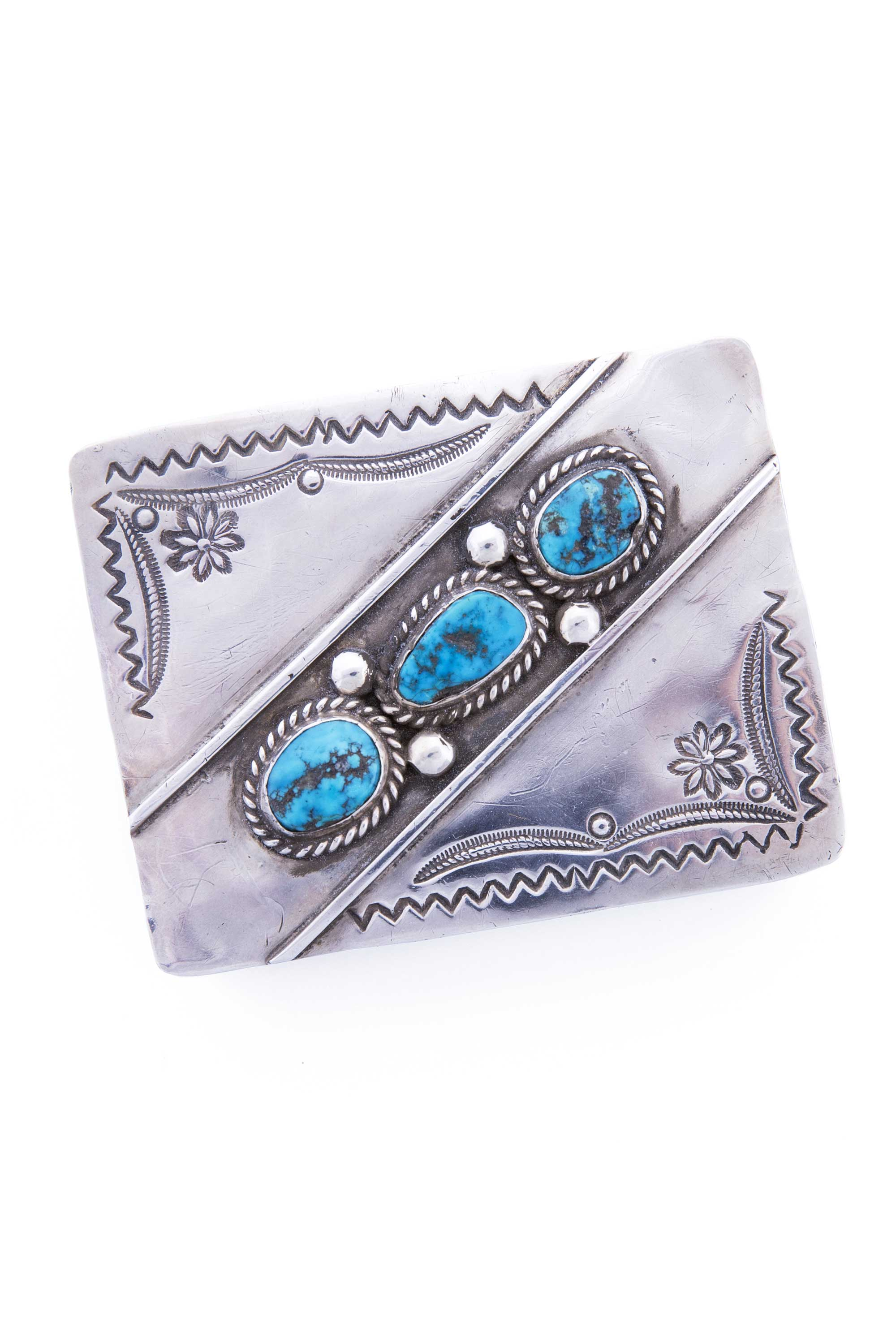 Miscellaneous Box, Sterling, Silver & Turquoise, Vintage