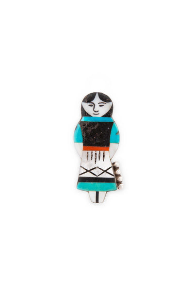 Pin, Zuni Inlay, Vintage, Hopi Mainden, 1960's