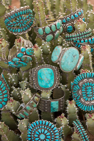 Cuff, Turquoise, Vintage, 2147