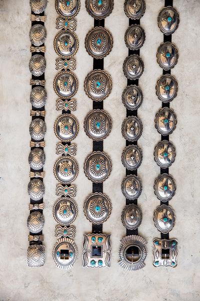 Belt, Concho, Sterling Silver & Turquoise, Hallmark