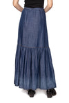 Denim Broom Skirt