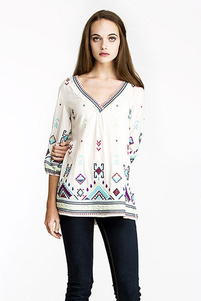 Rainbow Weaver Top