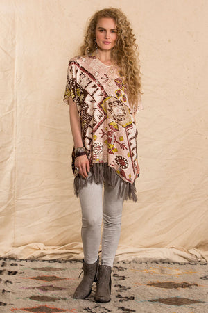 Sunset on the Mountain Poncho