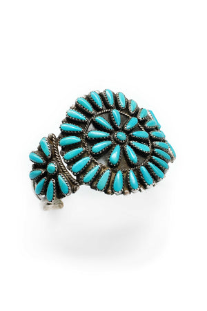 Cuff, Turquoise, Cluster, Vintage, 2178