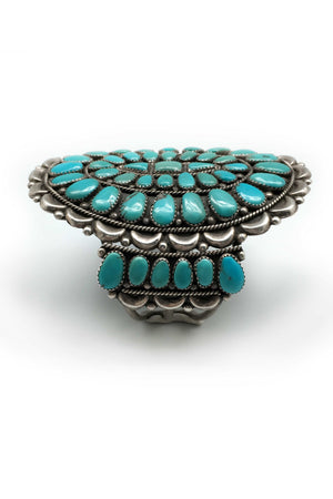 Cuff, Turquoise, Cluster, Vintage, 2142