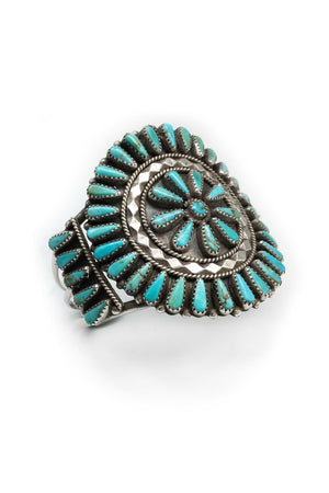 Vintage Cuff, Turquoise, Cluster, Wagon Wheel, 2159