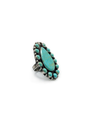 Ring, Turquoise, Cluster, Tyler Brown