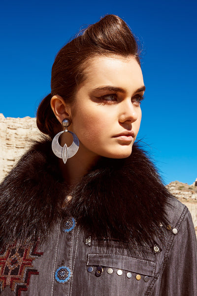 Earrings, Hoop, Flat Mountain