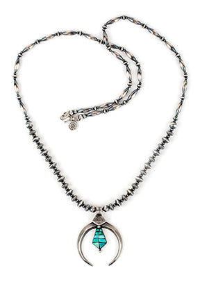 Necklace, Bead, Sterling & Turquoise, Desert Dancer