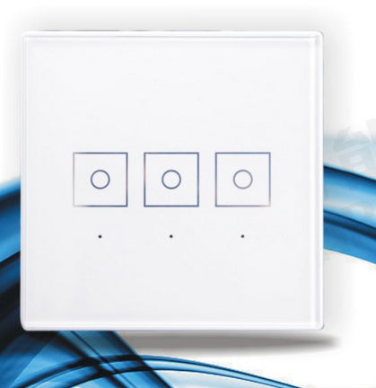 three live wire pins 3 channel gangs 868.42Mhz Z-Wave smart switch zwave wall touch panel switch for a smart home automation