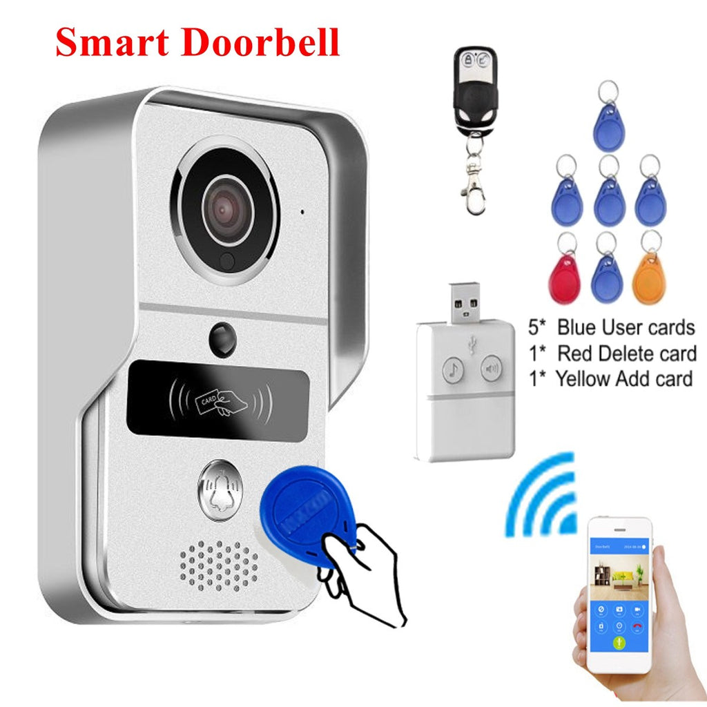 NEW Safurance RFID Smart Wireless WiFi Remote Doorbell Enabled Phone Video Camera Ring Home Security  Door Intercom
