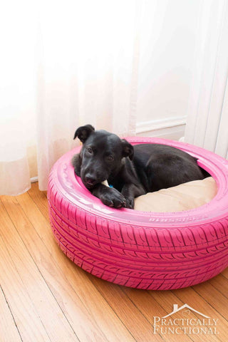 DIY Recycled Tire Dog Bed