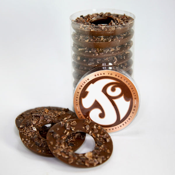 Dark-Milk Chocolate & Cacao Nib Rings